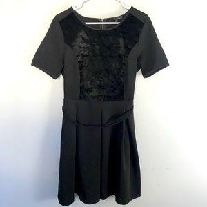 Elie Tahari design studio black fit flare dress